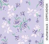seamless flower fashion vector...   Shutterstock .eps vector #1099140434