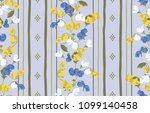 seamless flower fashion vector...   Shutterstock .eps vector #1099140458
