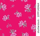 seamless flower fashion vector...   Shutterstock .eps vector #1099140464