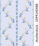 seamless flower fashion vector...   Shutterstock .eps vector #1099140488