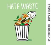 stop wasting food color vector... | Shutterstock .eps vector #1099146518