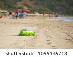inflatable crocodile on a sandy ... | Shutterstock . vector #1099146713