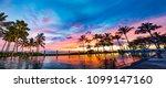 hawaii honolulu oahu pool side... | Shutterstock . vector #1099147160