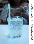 water ice in the glass on the... | Shutterstock . vector #1099147694