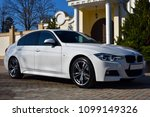 bmw on the background of a... | Shutterstock . vector #1099149326