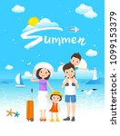 summer time vacation  sea beach ...   Shutterstock .eps vector #1099153379