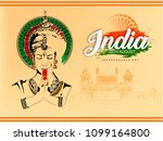 independence day in india... | Shutterstock .eps vector #1099164800
