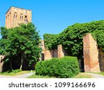 The historic stone gate tower in Prenzlau