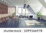modern loft attic apartment... | Shutterstock . vector #1099166978