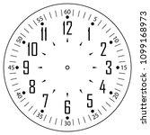 clock face for house  alarm ... | Shutterstock .eps vector #1099168973