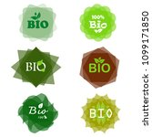 bio sign bio stamp  bio badge ... | Shutterstock . vector #1099171850