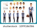 front  side  back view animated ... | Shutterstock .eps vector #1099186586