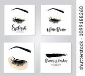 vector illustration of lashes... | Shutterstock .eps vector #1099188260