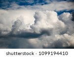 white clouds against the blue...   Shutterstock . vector #1099194410