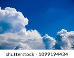 white clouds against the blue...   Shutterstock . vector #1099194434