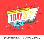 one day super sale banner... | Shutterstock .eps vector #1099195919