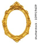gold vintage frame isolated on... | Shutterstock . vector #109919609