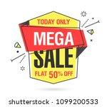 mega sale banner template in... | Shutterstock .eps vector #1099200533