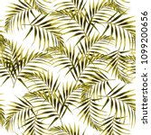 seamless pattern with tropical... | Shutterstock .eps vector #1099200656