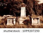 gravestones and crosses in... | Shutterstock . vector #1099207250