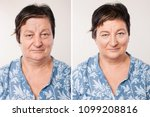comparison portrait of a... | Shutterstock . vector #1099208816