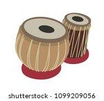 tabla  arabic  oriental musical ... | Shutterstock .eps vector #1099209056