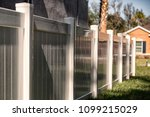 vinyl fence solid privacy | Shutterstock . vector #1099215029