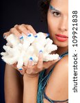 beautiful female hands.nail art ... | Shutterstock . vector #109921838