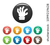 hand fear icon. simple... | Shutterstock .eps vector #1099219628