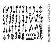 hand drawn arrow icon | Shutterstock .eps vector #1099219778