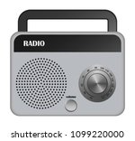 grey portable radio mockup....   Shutterstock .eps vector #1099220000