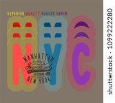 new york city tee shirt design  ... | Shutterstock .eps vector #1099222280