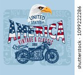 vector illustration bald eagle... | Shutterstock .eps vector #1099222286