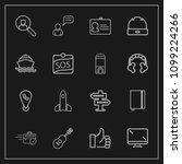 modern  simple vector icon set...   Shutterstock .eps vector #1099224266