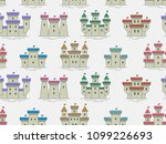 seamless pattern with colorful... | Shutterstock .eps vector #1099226693