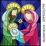 illustration in stained glass... | Shutterstock .eps vector #1099231799