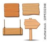 wooden signboards  vector wood... | Shutterstock .eps vector #1099232348