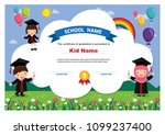 kids diploma certificate... | Shutterstock .eps vector #1099237400