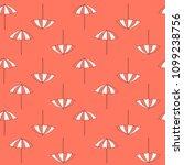 pattern of beach summer... | Shutterstock .eps vector #1099238756