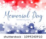 usa memorial day background.... | Shutterstock .eps vector #1099240910