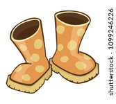 quirky cartoon rubber boots... | Shutterstock .eps vector #1099246226