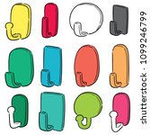 vector set of wall hooks | Shutterstock .eps vector #1099246799