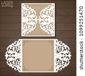laser cut wedding invitation... | Shutterstock .eps vector #1099251470