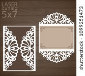 laser cut wedding invitation... | Shutterstock .eps vector #1099251473