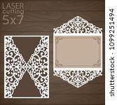 laser cut wedding invitation...   Shutterstock .eps vector #1099251494