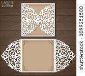 laser cut wedding invitation...   Shutterstock .eps vector #1099251500