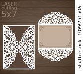 laser cut wedding invitation...   Shutterstock .eps vector #1099251506