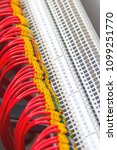 a number of numbered wires... | Shutterstock . vector #1099251770