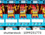 a number of numbered wires... | Shutterstock . vector #1099251773