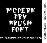 grunge distress font. modern... | Shutterstock .eps vector #1099258406